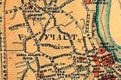 Фрагмент карты 1887 года. Старый город