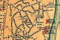 Фрагмент Карты 1887 года. Верхний город Тбилиси