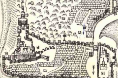 Крепостная церковь (17) на карте Вахушти Багратиони