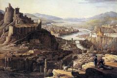 Вид Тифлиса с Юга . 1830е Н.Чернецов