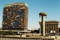 Гостиница Иберия в момент проживания в ней беженцов