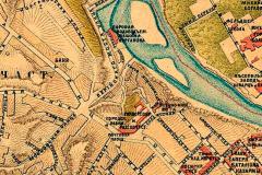 Карта XIX века. На месте площади городская Почта