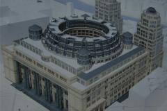 Проект гостиницы Kempinski, изображенный на информационном щите