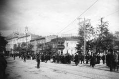 Здания на месте будующей гостиницы Мажестик, угол Барятинской и Головинского проспекта