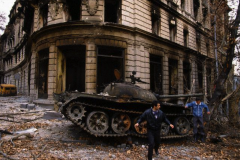 1992 Пожар после боев за здание Парламента