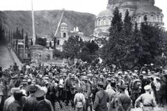 1918 год Немецкие войска перед собором Александа-Невского