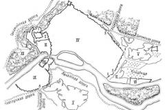 Карта Крепостных стен Тбилиси. Видна Дигомская дорога от Коджорских ворот