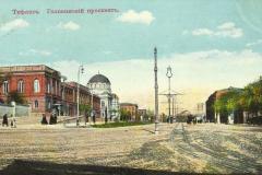 Дворец Наместника на Головинском проспекте. Вид от Дворцовой улицы