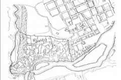План застройки Тифлиса в первой половине XIX века& Эриванская площадь на стыке Старого города и новых районов регулярной застройки.