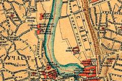 Фрагмент Карты Тбилиси 1887 года.