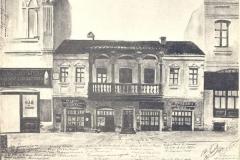 Дом, в котором жил А.С. Пушкин в Тифлисе. Репродукция с литографии неизвестного автора. (АРАН. Ф.543. Д.941. Л.36)