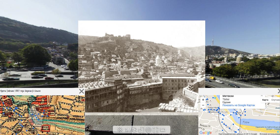 Виртуальный Путеводитель по Тбилиси со старыми фотографиями, текстами и картами