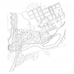 1809 Проект застройки Тбилиси 1809 года из книги «Архитектура Тбилиси» Т. Р. Квирквелия