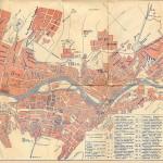 1910е План Тифлиса Хроно-Литография Быхова Приложение к путеводителю Тифлис Журналъ