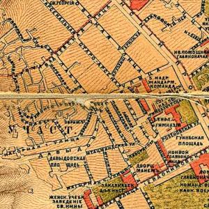 Лабораторная улица. Карта 1887