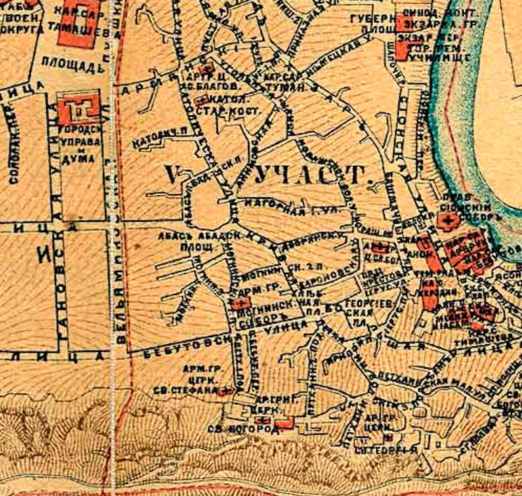 Старый город. Карта 1887 года