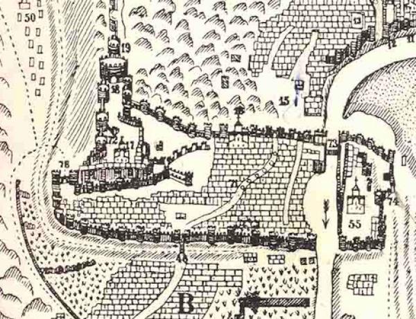 Остатки стены Нижней Крепости